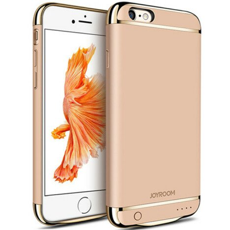 Husa Baterie Ultraslim iPhone 6/6s, iUni Joyroom 2500mAh, Gold